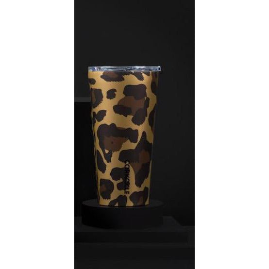 16 oz Tumbler By Corkcicle -- Luxe Leopard