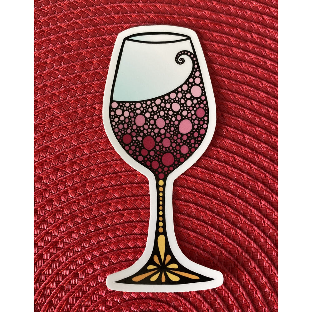 Wine Glass Sticker