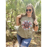 Mystic Leopard Sunflower T-Shirt