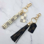 Checkered Keychains -- Choice of Color