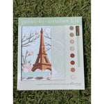 Eiffel Tower with Cherry Blossoms Paint-by-Number Kit