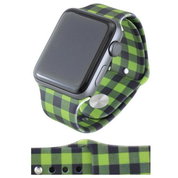 Green Plaid Watch Band