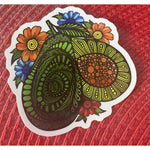 Floral Avocado Sticker