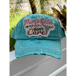 Nurse Hair Don't Care Hat - Turquoise
