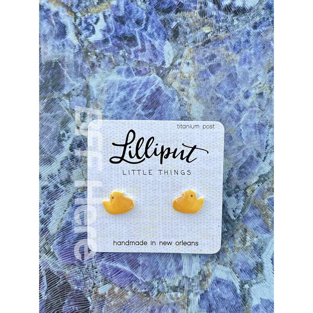 Yellow Marshmallow Chick Earrings
