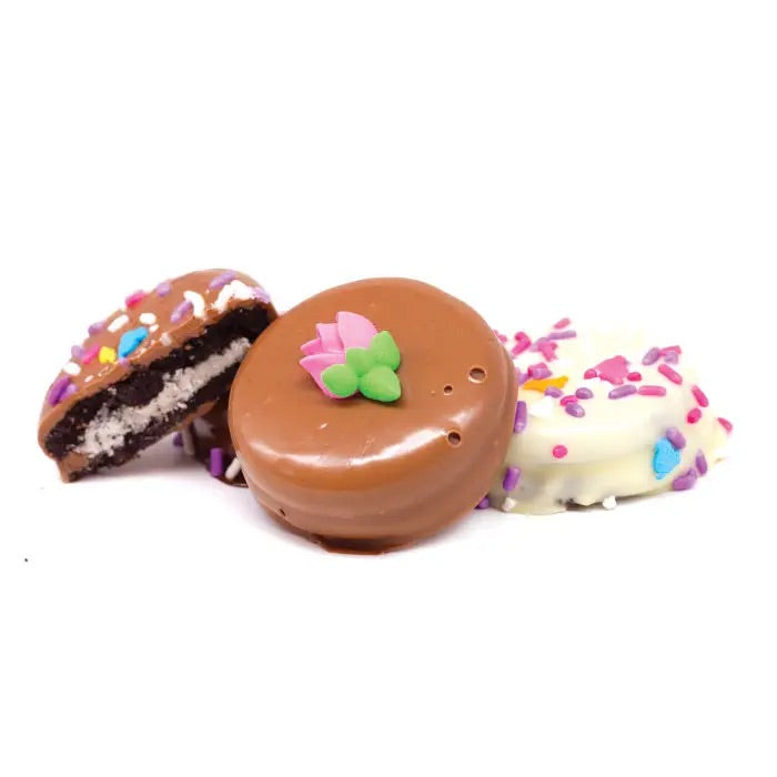 Spring Chocolate Dip Oreos - Milk Chocolate