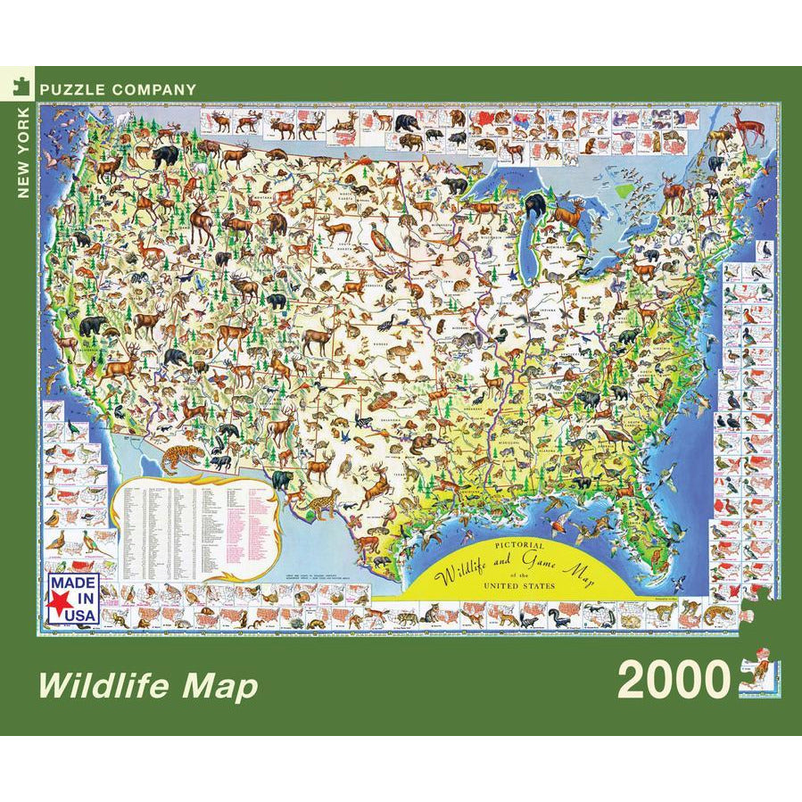 Wildlife Map Puzzle
