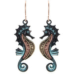 Multi Tone Sea Horse Earrings