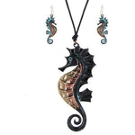 Sea Horse Necklace and Earring Set