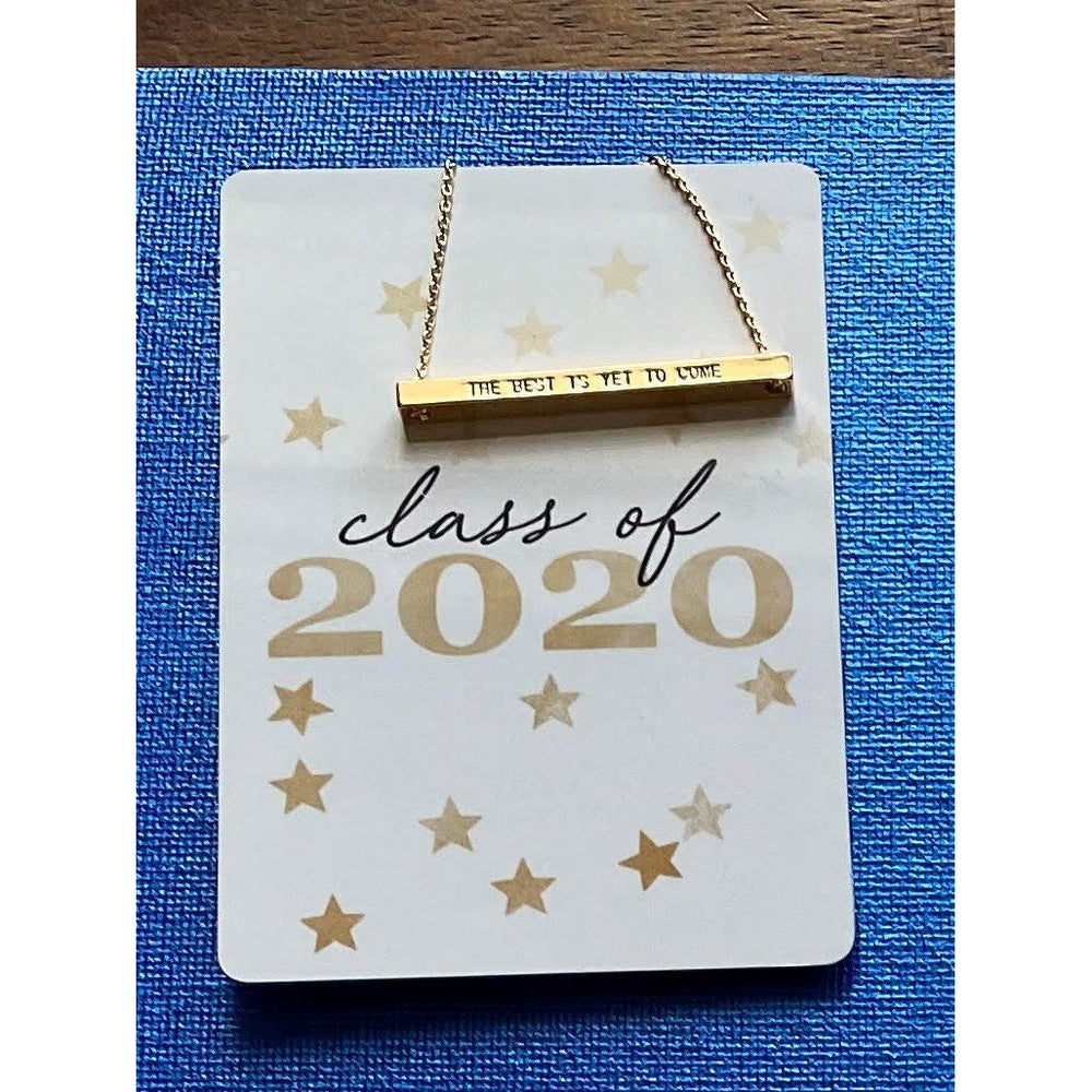 Class Of 2020 Necklace Card