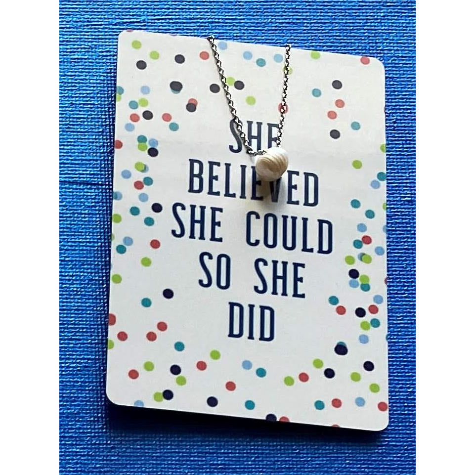 Color Me Happy Necklace Card -- Pearl