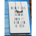 Color Me Happy Necklace Card -- Stars