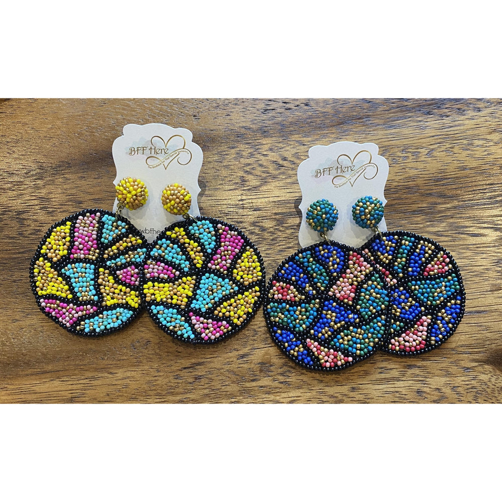 Abstract Bead Earrings -- Choice of Color