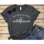 In A Field Of Roses T-Shirt