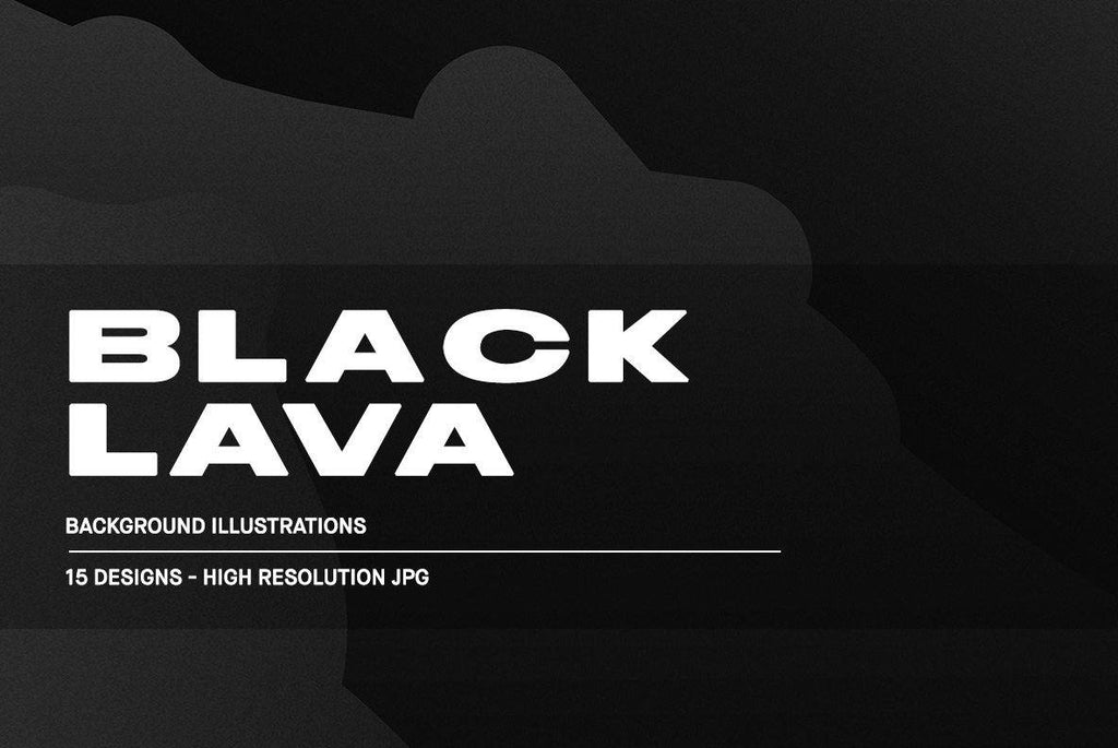 Black Lava Illustration Pack | Huebert World