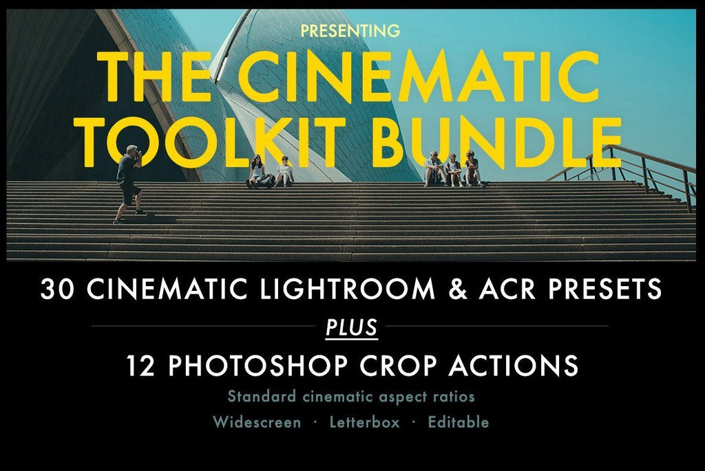 Cinematic Toolkit Lightroom Preset & Photoshop Action Pack - Huebert World