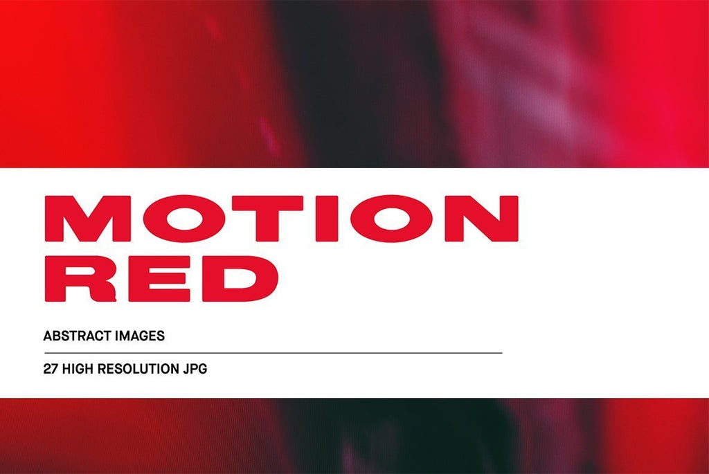 Motion Red Abstract Image Collection | Huebert World
