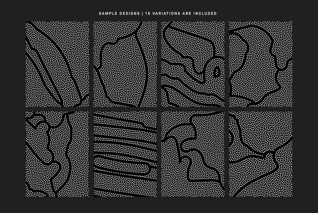 Stipple Blend Illustration Pack | Huebert World