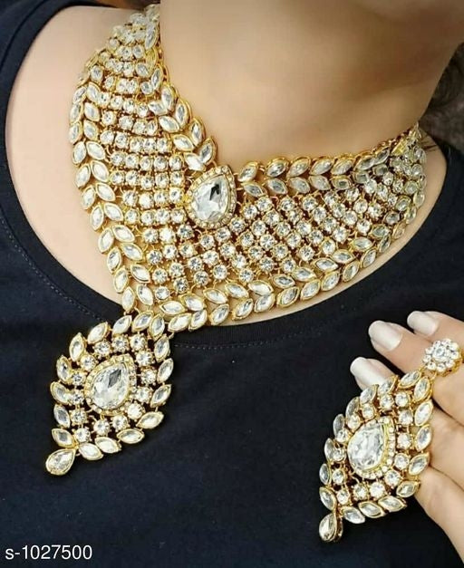 Kundan Metal Jewellery Set