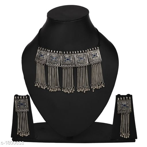 Feminine Exquisite Oxidized Silver Jewellery Sets