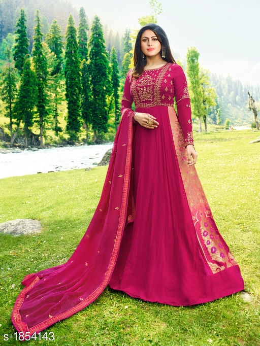 Alisha Trendy Embroidered Suits & Dress Materials#