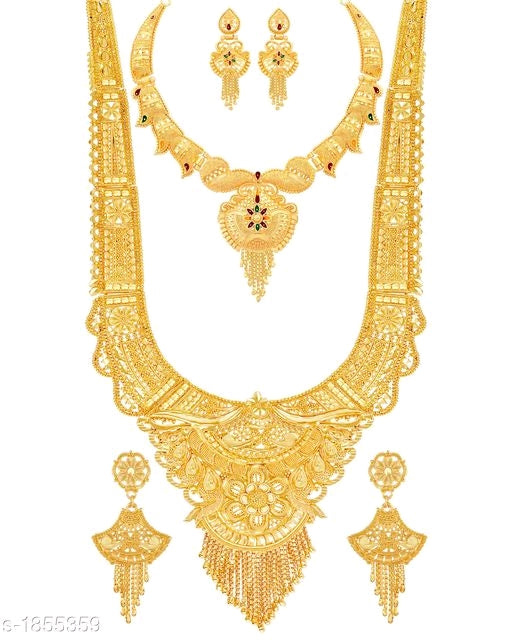 Feminine Antique Style Alloy Meena Worked