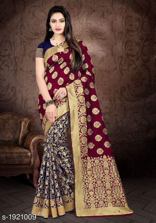 Elite Attractive Natural Silk Zari Sarees Vol 4