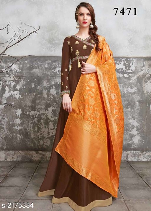 Myhra Fancy Women's Upada Silk Suits & Dress Materials Vol 1#