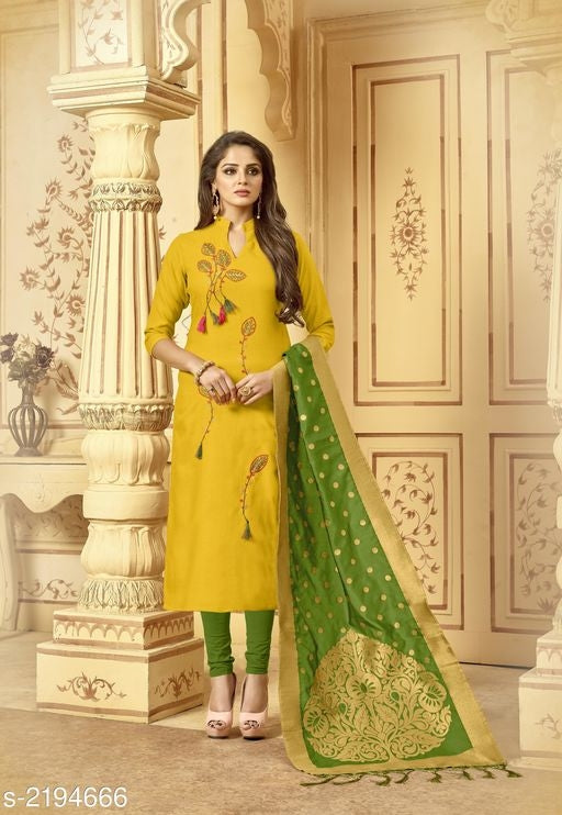 Ahanti Pretty Cotton Slub Suits & Dress Materials Vol 1#