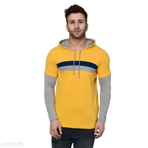 Kay Dee Cotton Stylish Hooded Men's Tshirts Vol 10#
