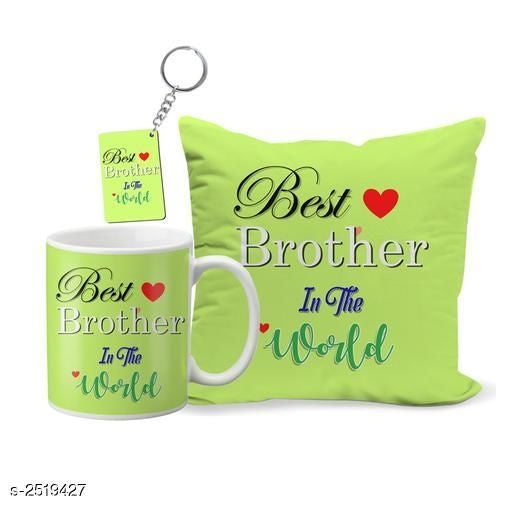 Myhra Attractive Printed Cushion Cover & Mugs With Keychain Vol 2