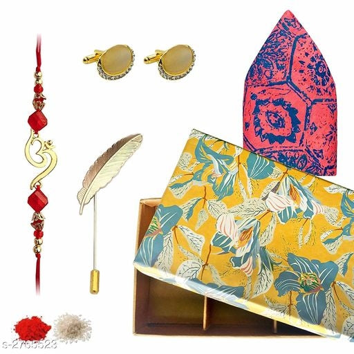 Elite Trendy Thread Rakhis Gift Sets