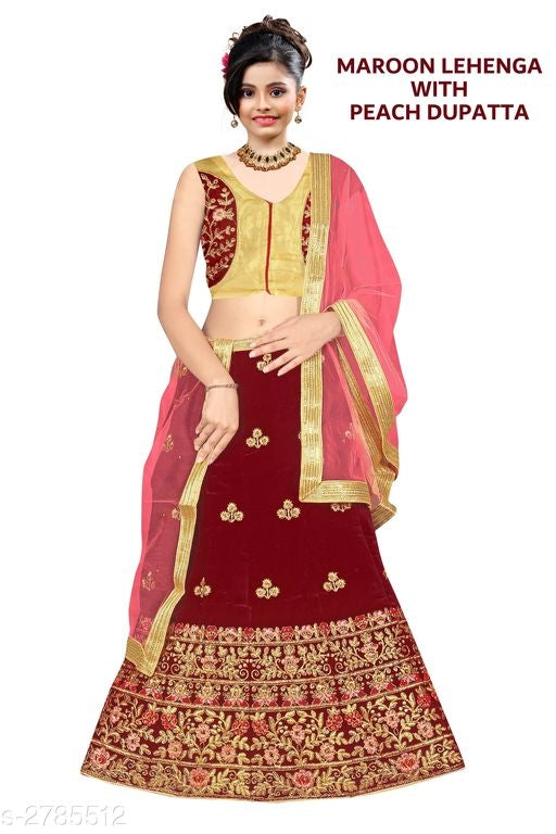 Amazing Kid's Girl's Lehanga Choli Sets -1