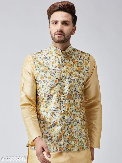 Elite Stylish Silk Blend Men's Ethnic Jackets Vol 7