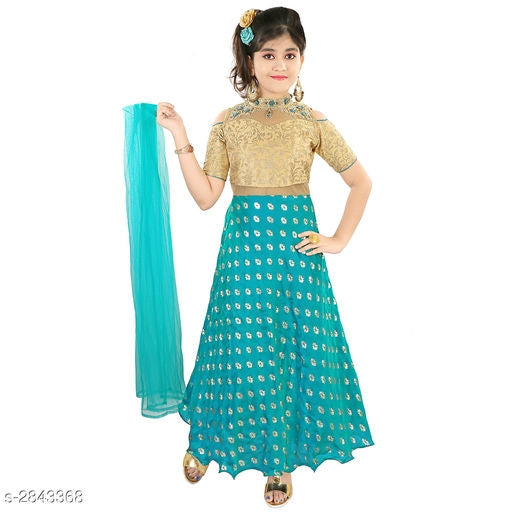 Adorable Kid's Girl's Ethnic Gown