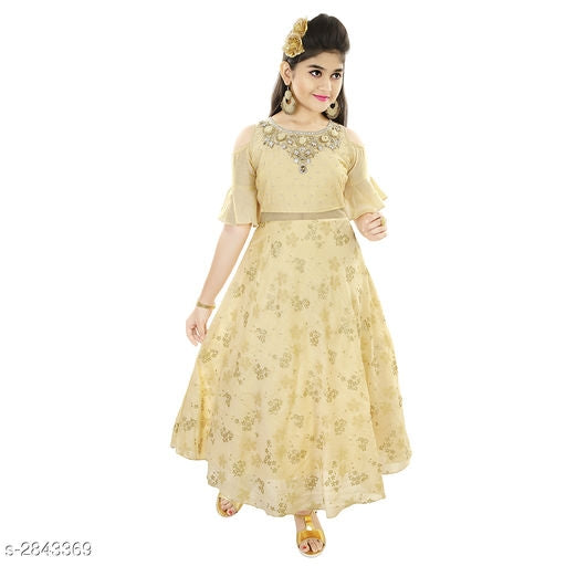Adorable Kid's Girl's Ethnic Gown -2