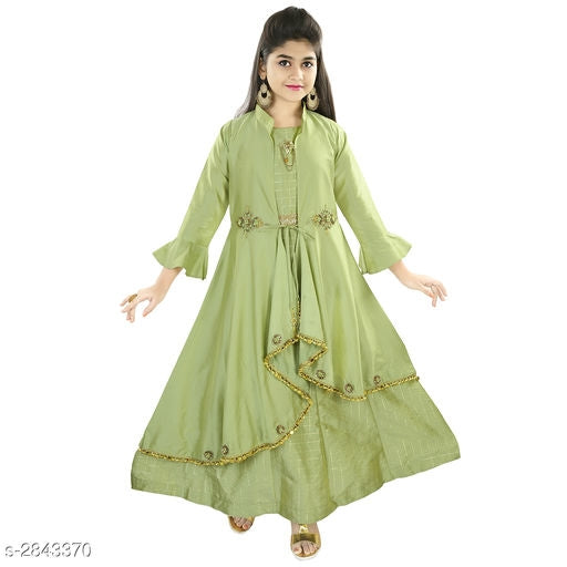 Adorable Kid's Girl's Ethnic Gown -3
