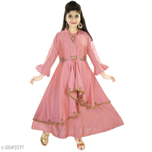 Adorable Kid's Girl's Ethnic Gown -4