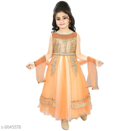 Adorable Kid's Girl's Ethnic Gown -5