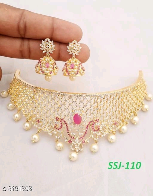 Elegant Party Wear Brass Jewellery Sets Vol 13