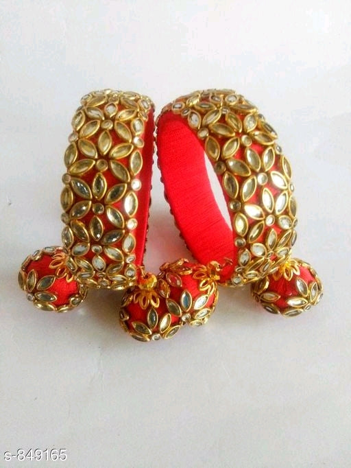 Diva Silk Thread Stone Work Bangles