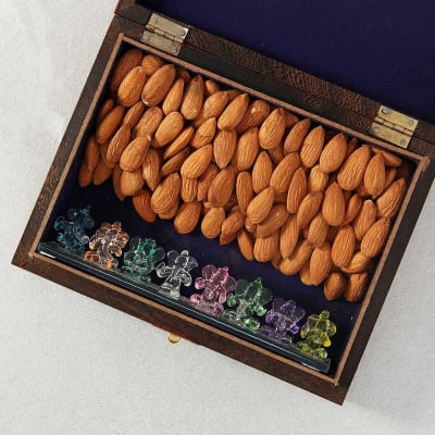Ashtavinayak Ganesha with Almonds in Traditional Gift Box
