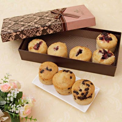 Assorted Sugarfree Muffins in a Gift Box