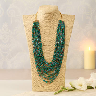 Beautiful Green String Necklace
