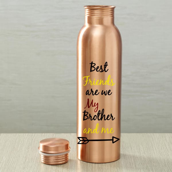 Copper Bottle with Chana Badam Barfi and Container