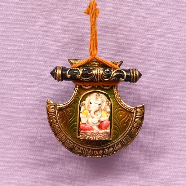 Delectable Hamper with Lord Ganesha Wall Hanging in Gift Pack