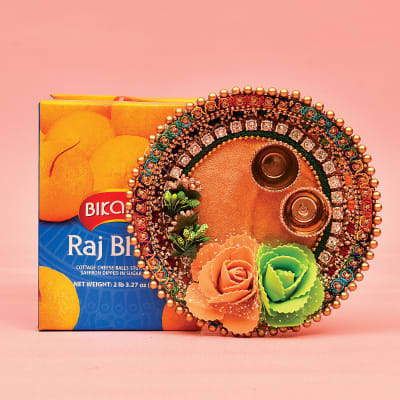 Stone Work Tikka Thali with 1.25 Kg Rajbhog by Bikano