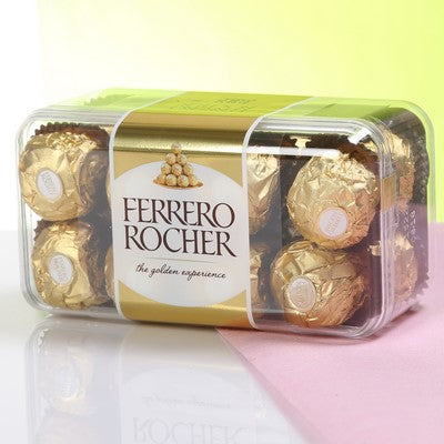 Designer Bhaidooj Tikka with 16 Pc. Ferrero Rocher Chocolates