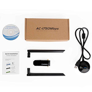 AC1750Mbps USB WiFi Adapter USB 3.0 Double Dual Band
