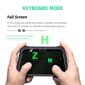 T18 2.4Ghz Mini Wireless Screen Touchable Keyboard